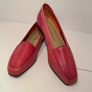 Enzo Fuchsia Leather Loafers